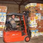 Verladung von Humanitärer Hilfe